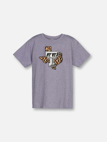 "Texas Tech Red Raiders ""Leopard Pride"" TODDLER T-Shirt In Grey"