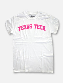 Texas Tech Red Raiders Hot Pink Arch T-Shirt In White