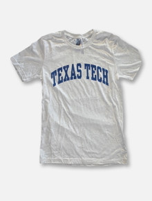 Texas Tech Red Raiders Navy Arch T-Shirt In Heather Grey