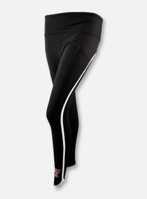 "Texas Tech Red Raiders Double T ""Scallop"" Women's Leggings In Black"
