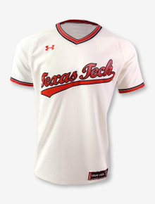 "Under Armour Texas Tech Red Raiders ""Retro Pullover"" Baseball Jersey"