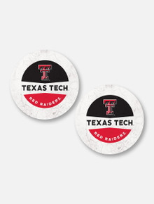 Texas Tech Red Raiders Double T Two-Tone Car Coasters, Set Of Two