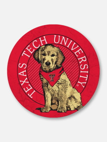 "Texas Tech Red Raiders Double T ""Rally Dog"" Coaster"