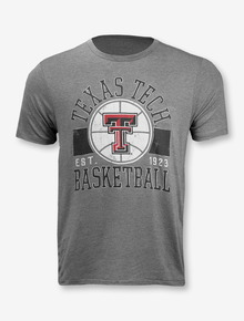 League Texas Tech Red Raiders Arch over Double T Basketball T-Shirt