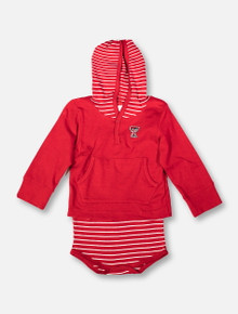 Texas Tech Red Raiders Mini Double T Striped Hooded INFANT Onesie