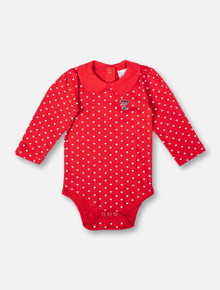 "Texas Tech Red Raiders Mini Double T ""Peter Pan"" INFANT GIRLS Long Sleeve Onesie"