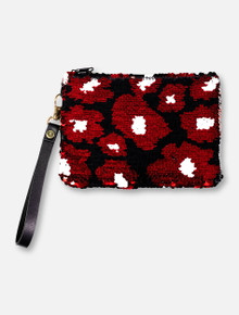 "Texas Tech Red Raiders Sequined ""Claire"" Wristlet Clutch"