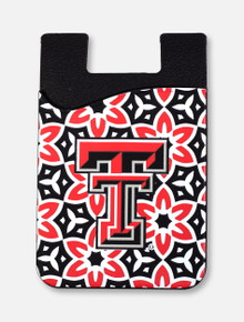 Texas Tech Red Raiders Double T Floral Cell Phone ID Holder