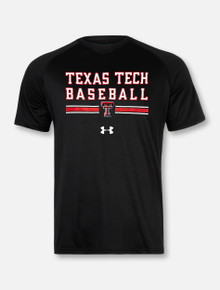 "Under Armour Texas Tech Red Raiders Double T Baseball ""Wells Runs Deep"" Short Sleeve T-Shirt"