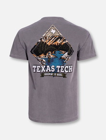 """Texas Tech Red Raiders Black and White Double T """"Fly Fishing"""" Short Sleeve T-Shirt"""