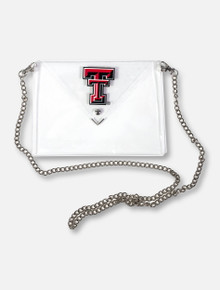 "Texas Tech Red Raiders Double T ""Masin"" Clutch With Silver Chain"