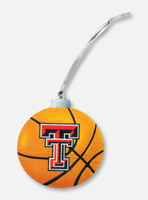 Legacy Texas Tech Red Raiders Double T Wooden Basketball Ornament