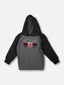"Texas Tech Red Raiders ""Dots"" Raider Red TODDLER Raglan Hoodie"