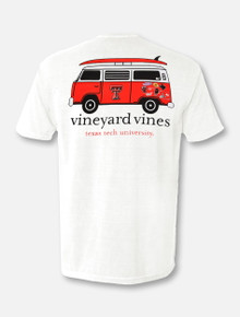 "Vineyard Vines Texas Tech Red Raiders Double T ""Van with Surfboard"" T-Shirt"