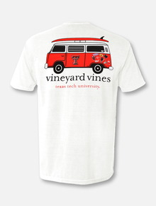"Vineyard Vines Texas Tech Red Raiders Double T ""Van with Surfboard"" T-Shirt"