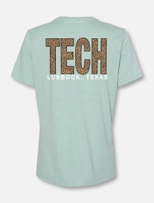 Texas Tech Red Raiders TECH Block In Cheetah Short Sleeved T-Shirt