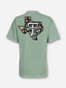 """Texas Tech Red Raiders  Lonestar Pride Logo """"Wildflower"""" T-Shirt"""