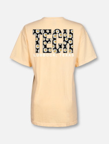 Texas Tech Red Raiders TECH Block in Daisies T-Shirt