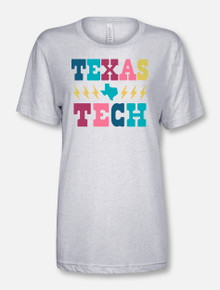 "Texas Tech Red Raiders Stacked ""Lightening Strikes Twice"" T-Shirt"