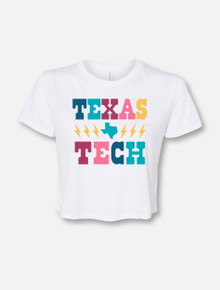 "Texas Tech Red Raiders Stacked ""Lightning Strikes Twice"" Crop Top"