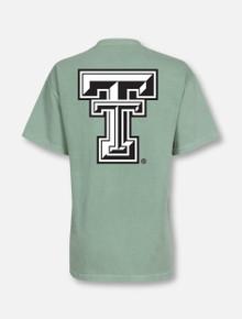 NCAA Texas Tech Red Raiders Adult NCAA Retro Stacked Image One Everyday Short sleeve T-Shirt Large,HeatherGrey