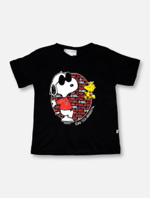 "Texas Tech Red Raiders Double T ""Snoopy Circle Lean"" TODDLER T-Shirt"