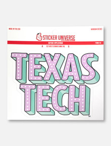 "Texas Tech Red Raiders ""Stacked Pastel Hearts"" Decal"