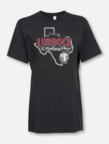 """Lubbock Is My Happy Place"" Buy One Help Three Campaign T-shirt"