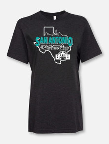 """""""San Antonio Is My Happy Place"""" Buy One Help Three Campaign T-shirt"""