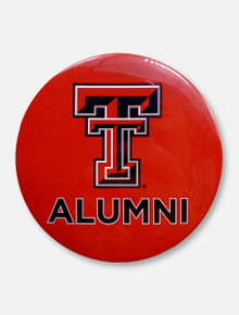 "Texas Tech Red Raiders ""Double T over Alumni"" Button"