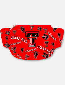 Texas Tech Red Raiders Red with Repeating Double T  Face Mask