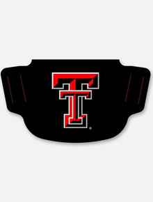 Texas Tech Red Raiders Black with Double T  Face Mask