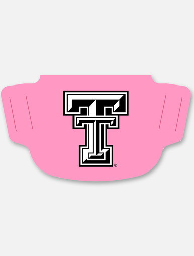 Texas Tech Red Raiders Pink with Double T  Face Mask