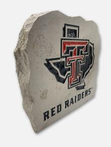 Texas Tech Lonestar Pride Logo over Red Raiders Sign Stone