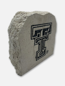 Texas Tech Black and White Double T Sign Stone