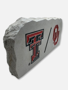 House Divided: TTU/OU Sign Stone
