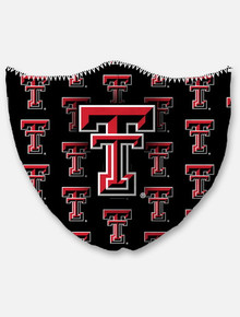 Texas Tech Red Raiders Black Repeating Double T Face Mask
