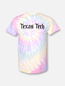 "Texas Tech Red Raiders Old English Font ""Konyay"" Tie Dye T-Shirt ( Drop Ship Expected ship date  5/29)"