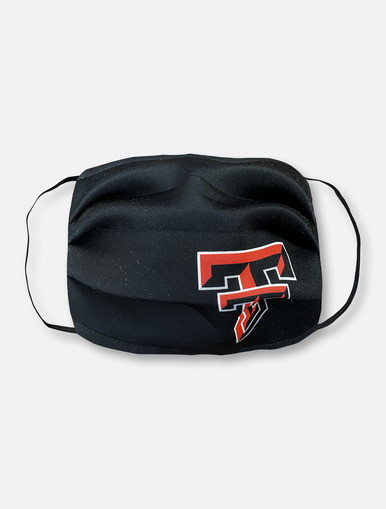 Texas Tech Red Raiders Face Mask In Black With Full Color Double T