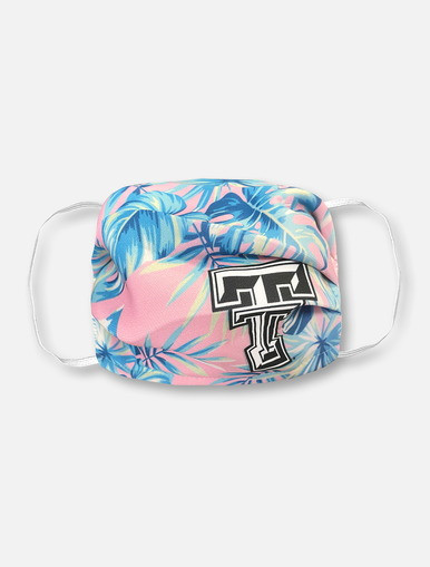 Texas Tech Red Raiders Pink Palm Face Mask