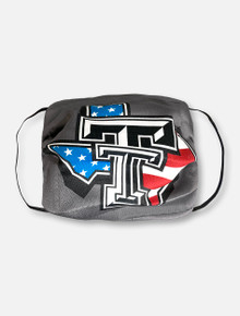 Texas Tech Red Raiders Face Mask With American Pride