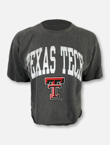 Blue 84 Texas Tech Red Raiders Arch Over Double T Crop Tee