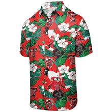 "Texas Tech Red Raiders Raider Red ""Mascot Floral"" Button Down"