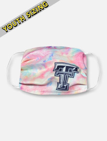 Texas Tech Red Raiders KIDS Face Mask in Pastel Tie-Dye