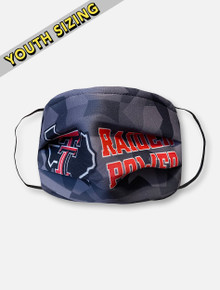 Texas Tech Red Raiders KIDS Face Mask with Shattered Raider Power
