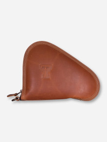 Texas Tech Double T Light Brown Leather Pistol Case