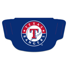 MLB Texas Rangers Face Mask with Baseball Logo