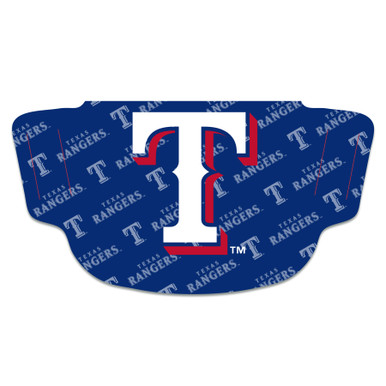MLB Texas Rangers Face Mask with Big T Logo