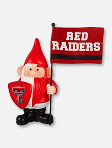 Texas Tech Red Raiders Garden Gnome with Flag and Shield