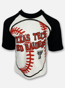 "Texas Tech Red Raiders Black and White Double T ""Baseball with Bounce"" YOUTH T-Shirt"